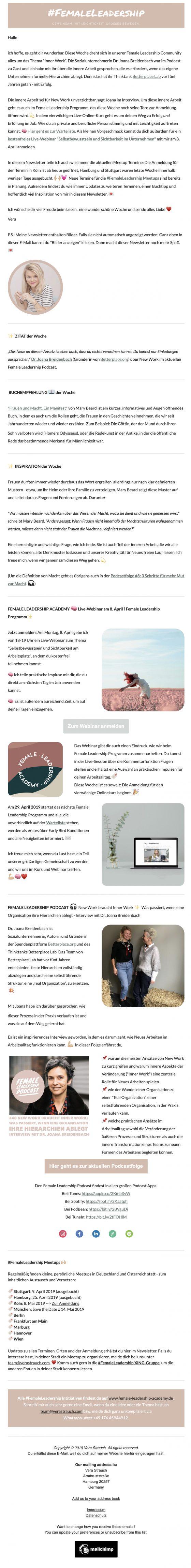 Female Leadership Newsletter Vorschau lang